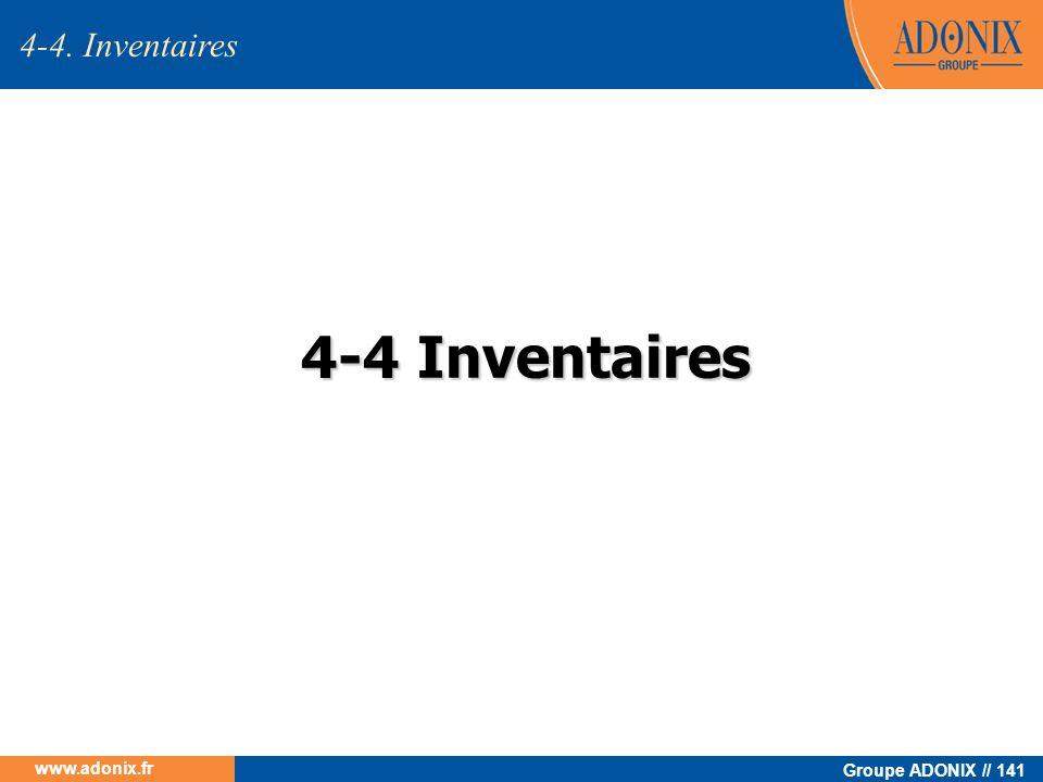 4-4. Inventaires 4-4 Inventaires