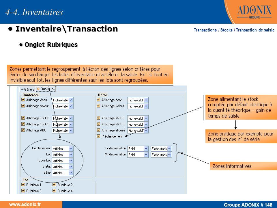 • Inventaire\Transaction