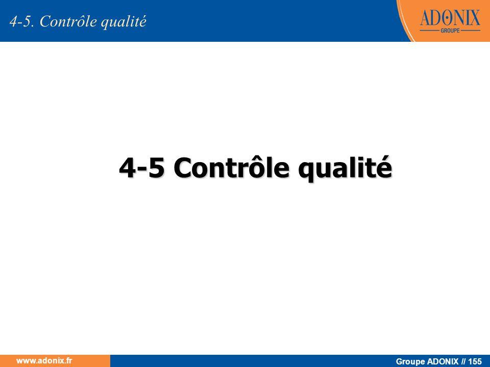 4-5. Contrôle qualité 4-5 Contrôle qualité