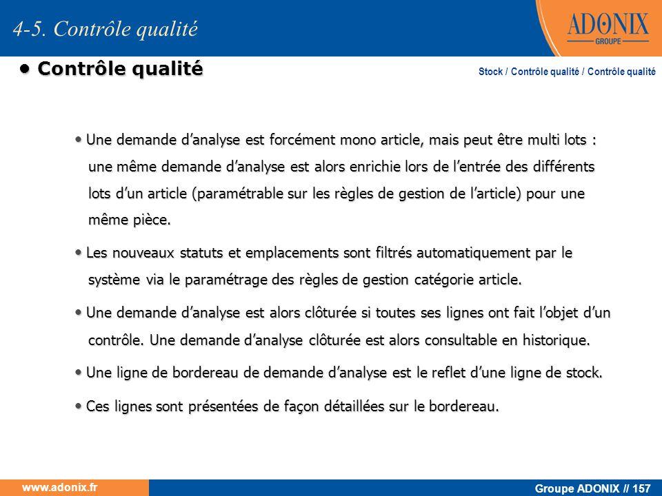 4-5. Contrôle qualité • Contrôle qualité