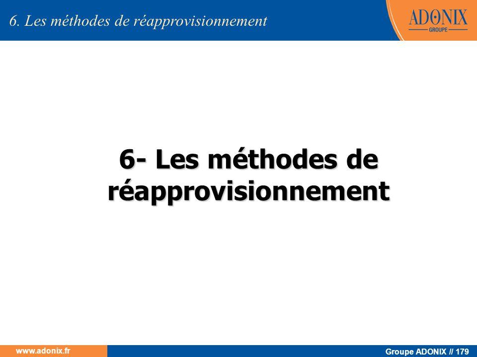 6- Les méthodes de réapprovisionnement