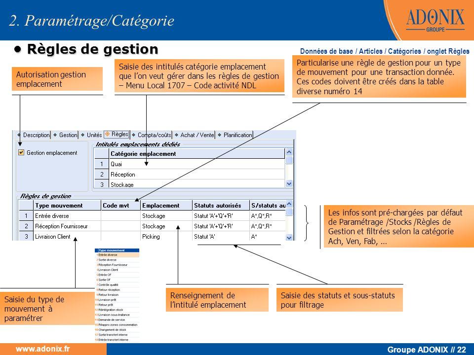 2. Paramétrage/Catégorie