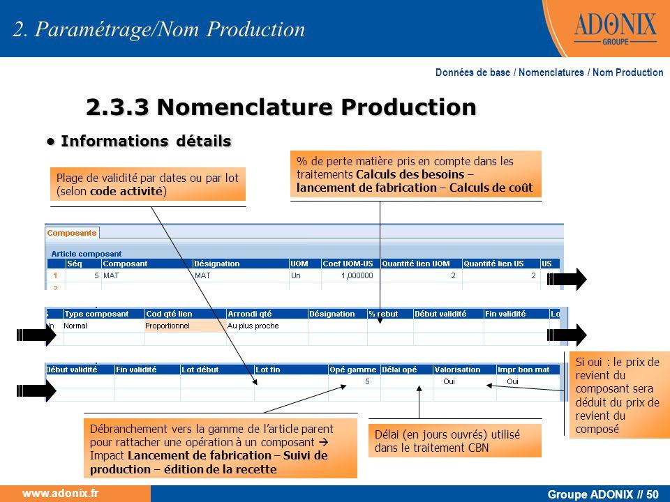 2.3.3 Nomenclature Production