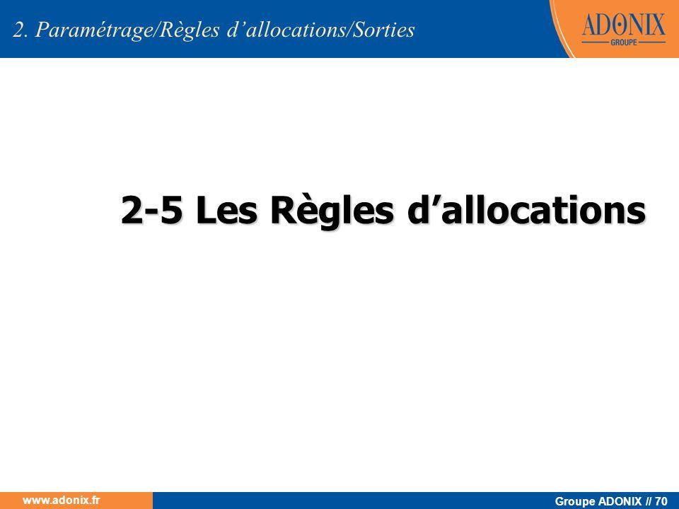 2-5 Les Règles d'allocations