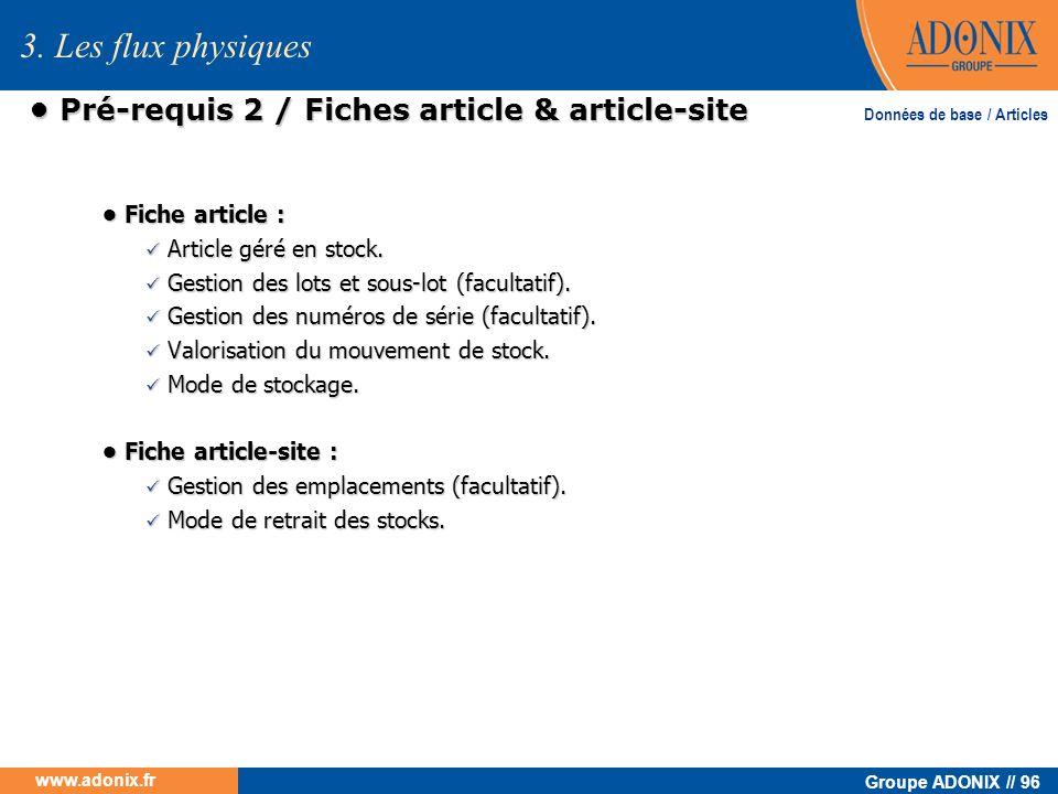 • Pré-requis 2 / Fiches article & article-site