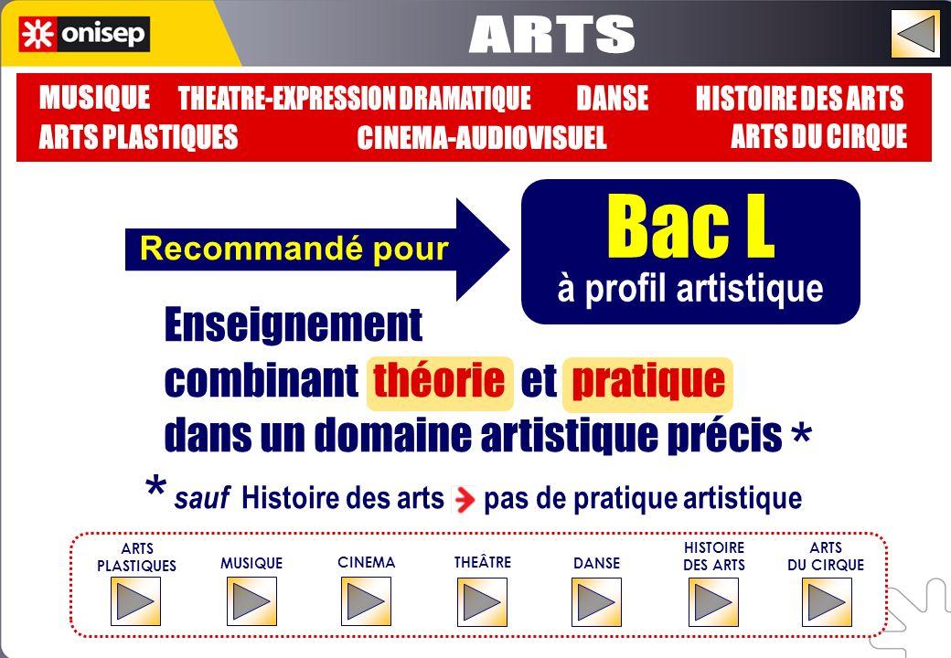 Bac L * * ARTS MUSIQUE THEATRE-EXPRESSION DRAMATIQUE DANSE