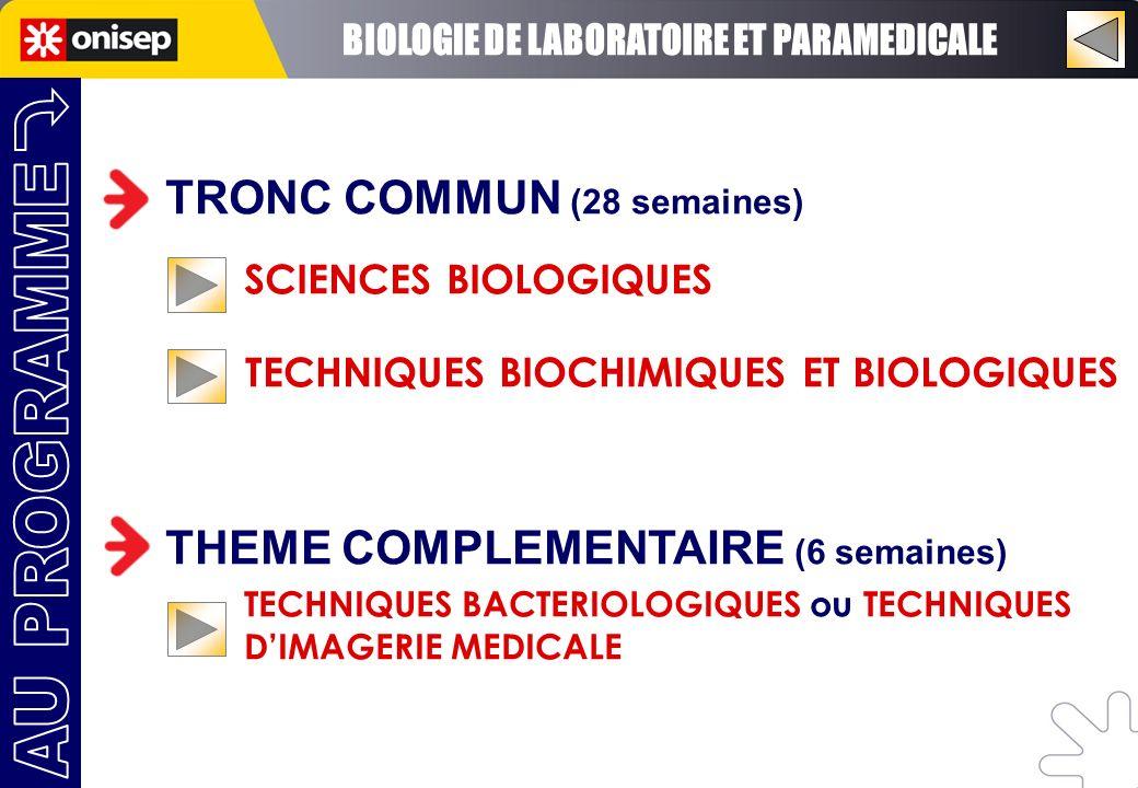 BIOLOGIE DE LABORATOIRE ET PARAMEDICALE