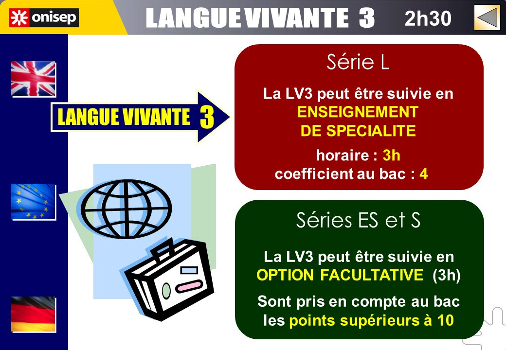 3 LANGUE VIVANTE 3 2h30 Série L LANGUE VIVANTE Séries ES et S