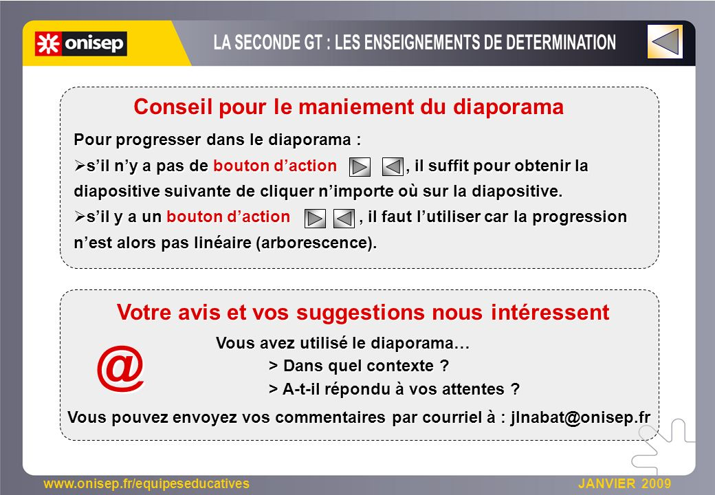 @ LA SECONDE GT : LES ENSEIGNEMENTS DE DETERMINATION