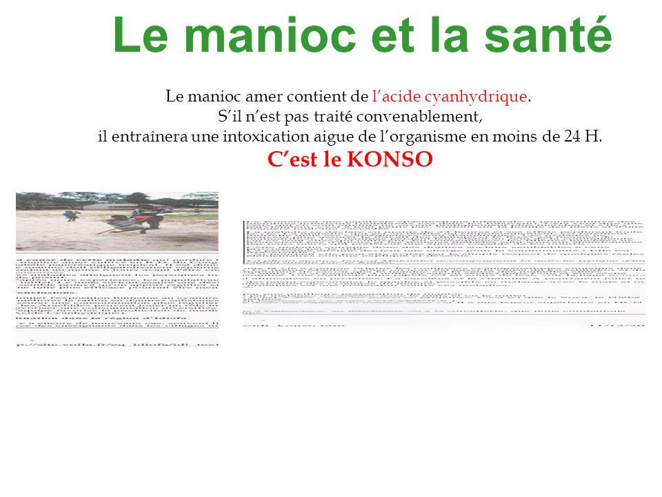 Le manioc et la santé C'est le KONSO