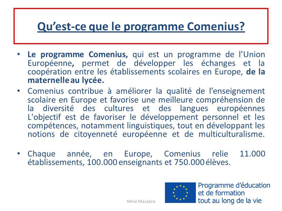Qu'est-ce que le programme Comenius