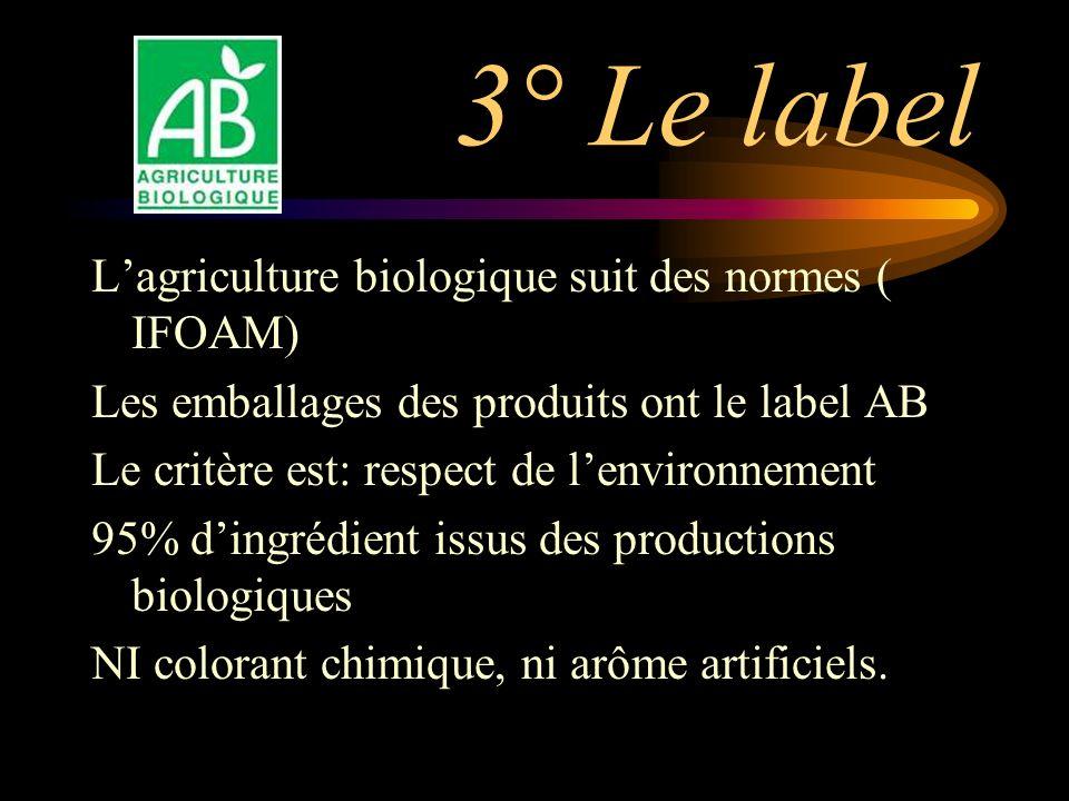 3° Le label L'agriculture biologique suit des normes ( IFOAM)