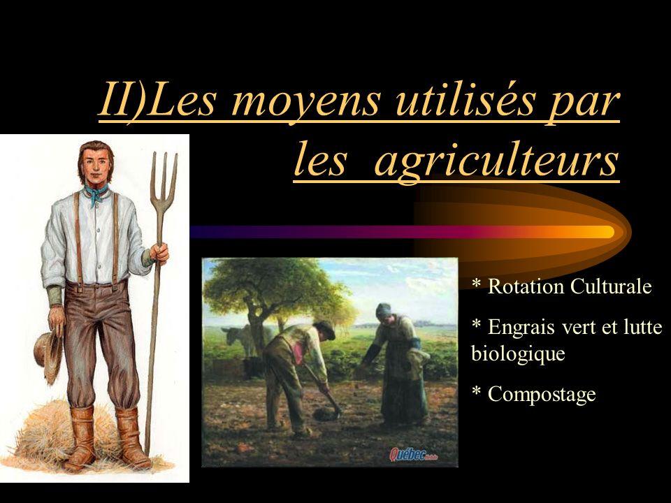 II)Les moyens utilisés par les agriculteurs