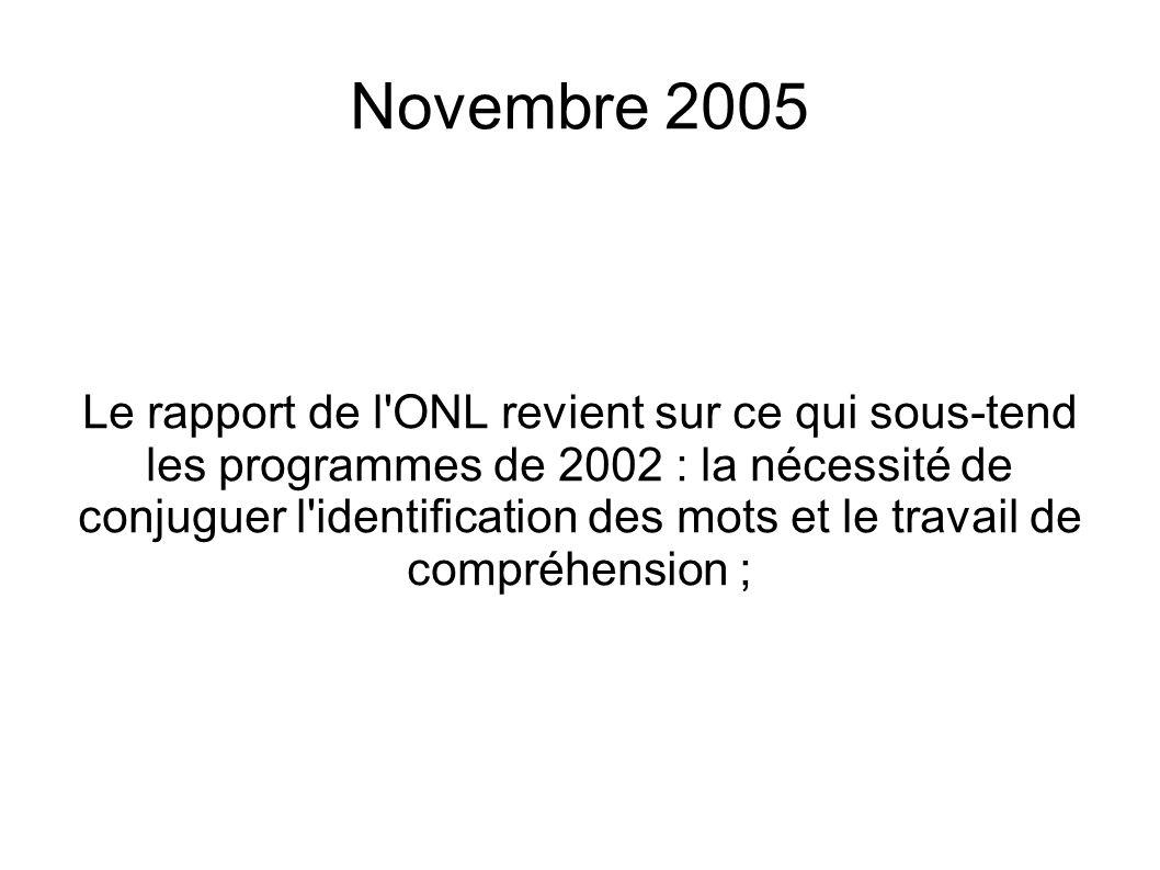 Novembre 2005