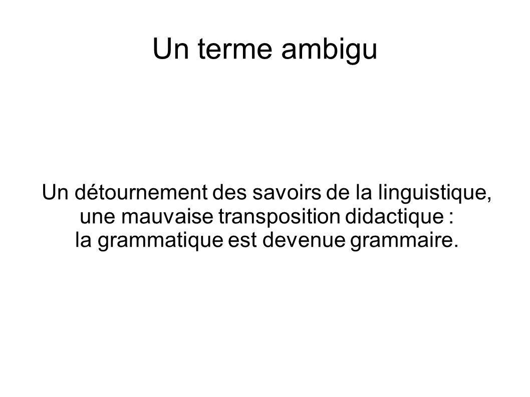 la grammatique est devenue grammaire.