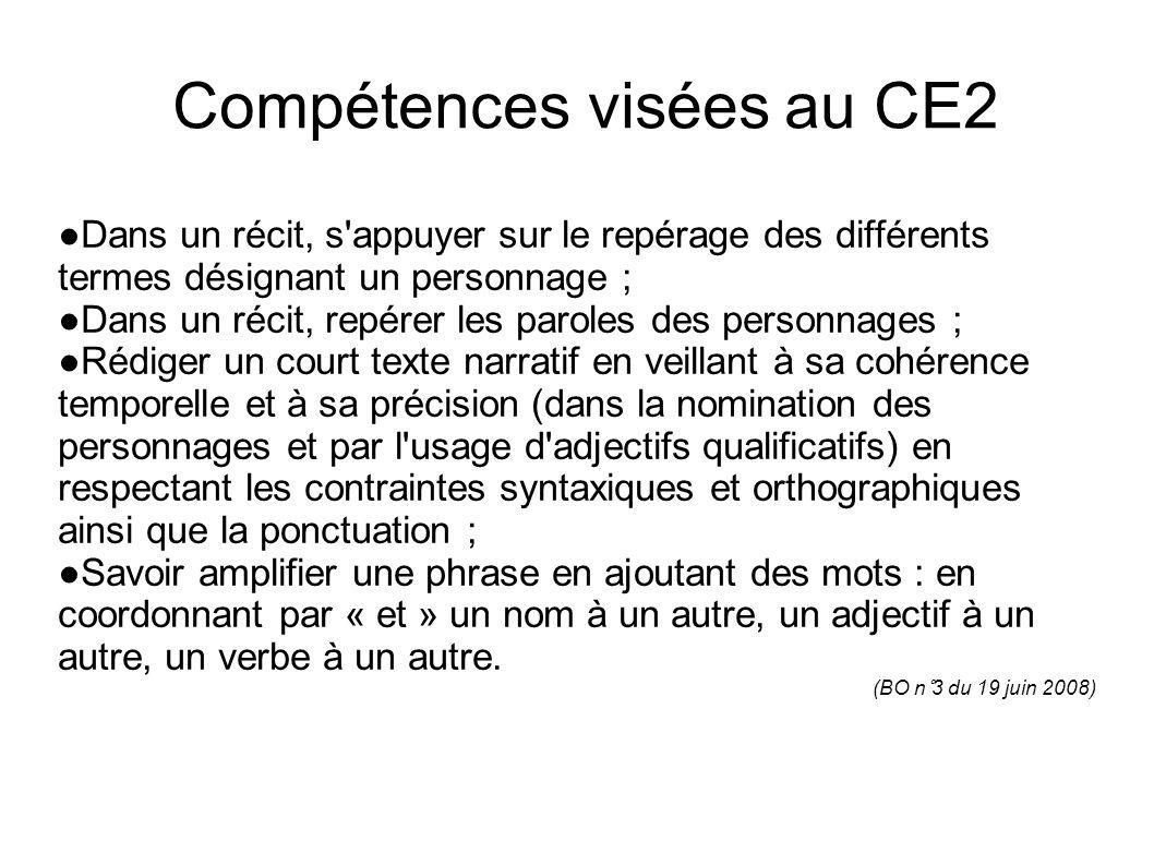 Compétences visées au CE2