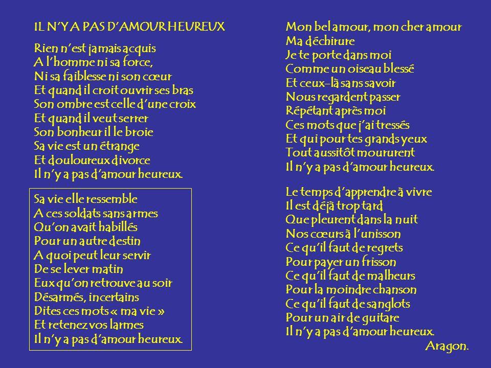 IL N'Y A PAS D'AMOUR HEUREUX