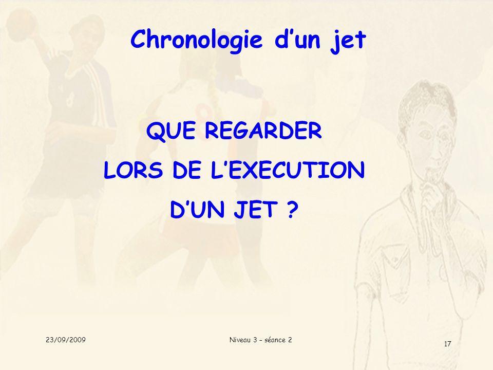 Chronologie d'un jet QUE REGARDER LORS DE L'EXECUTION D'UN JET