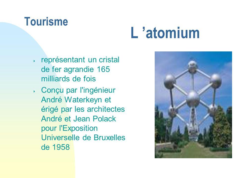 04/01/07 Tourisme L 'atomium. représentant un cristal de fer agrandie 165 milliards de fois.
