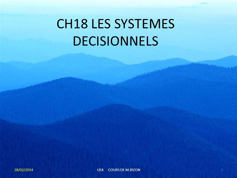 CH18 LES SYSTEMES DECISIONNELS