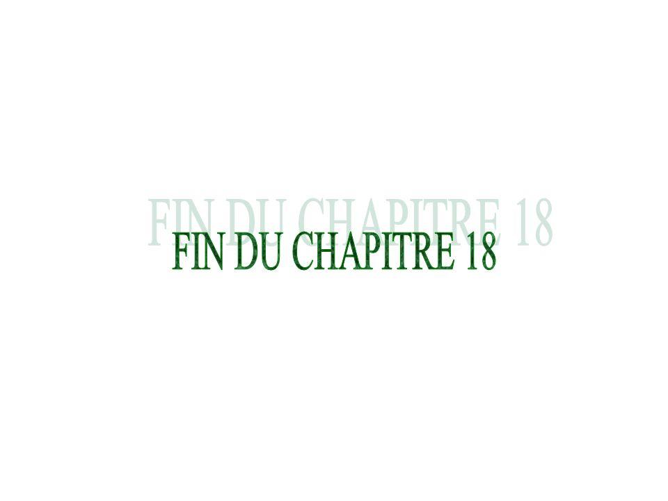 FIN DU CHAPITRE 18