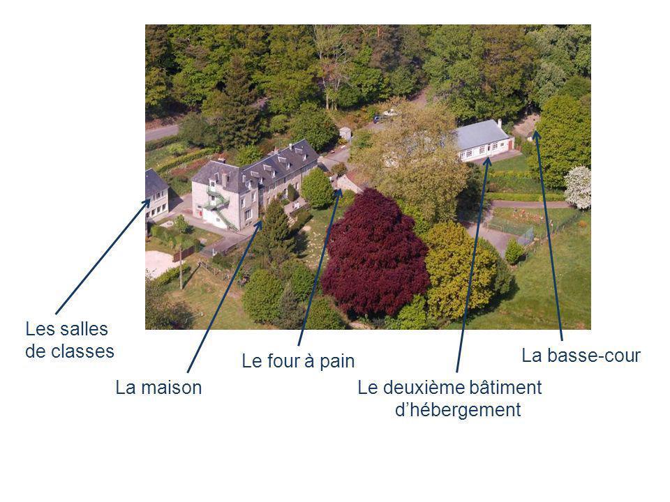 Les salles de classes La basse-cour Le four à pain La maison Le deuxième bâtiment d'hébergement