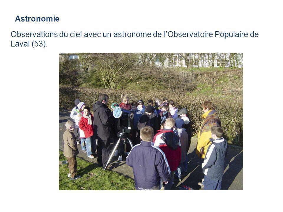 Astronomie Observations du ciel avec un astronome de l'Observatoire Populaire de Laval (53).