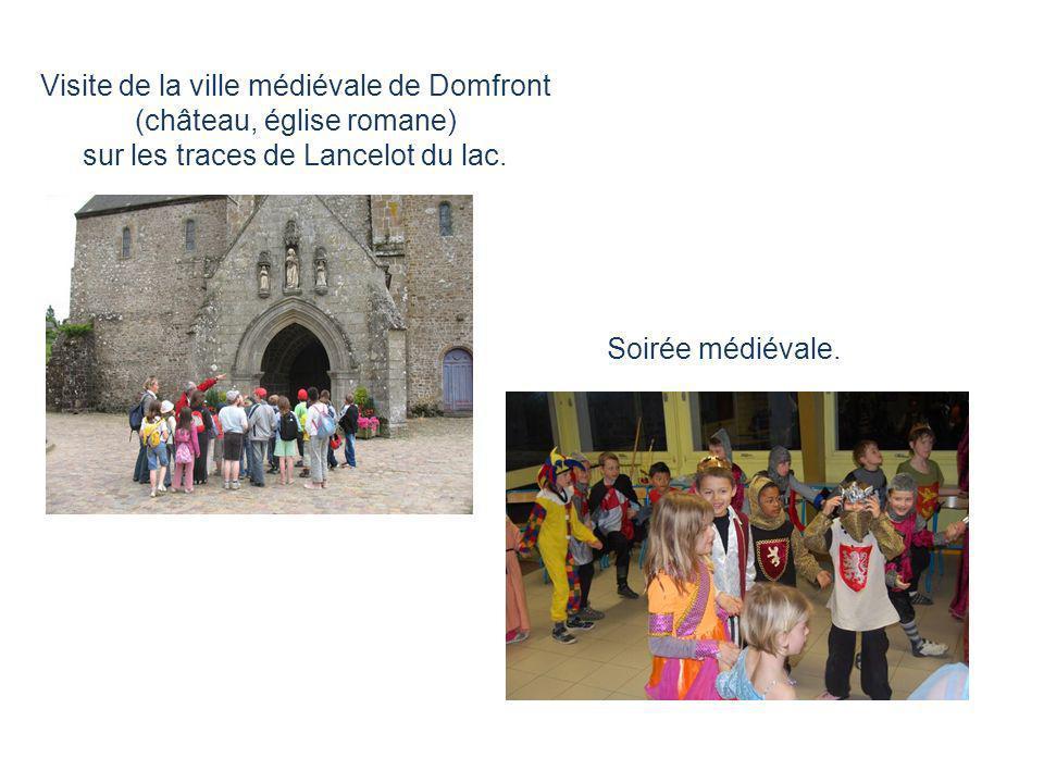 Visite de la ville médiévale de Domfront (château, église romane)