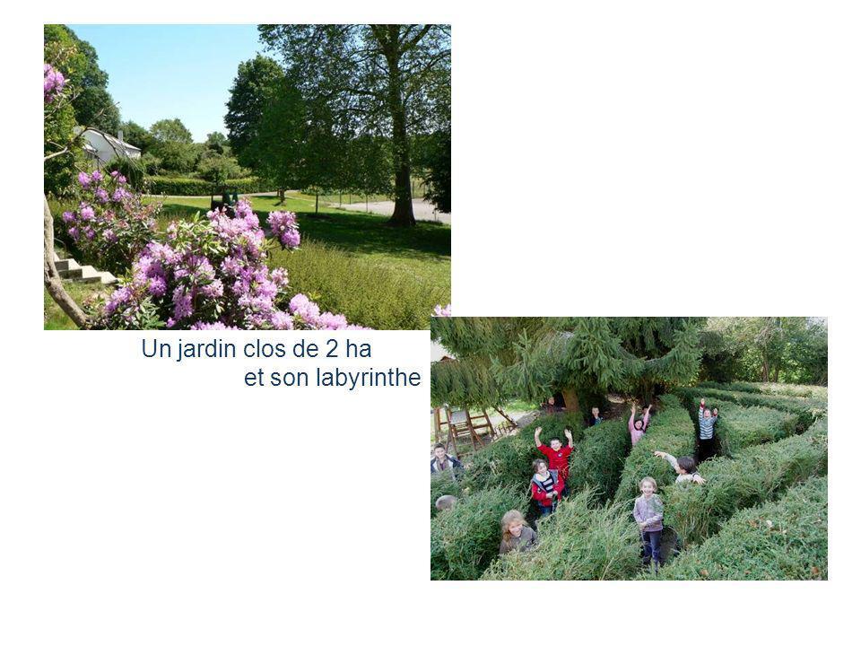 Un jardin clos de 2 ha et son labyrinthe