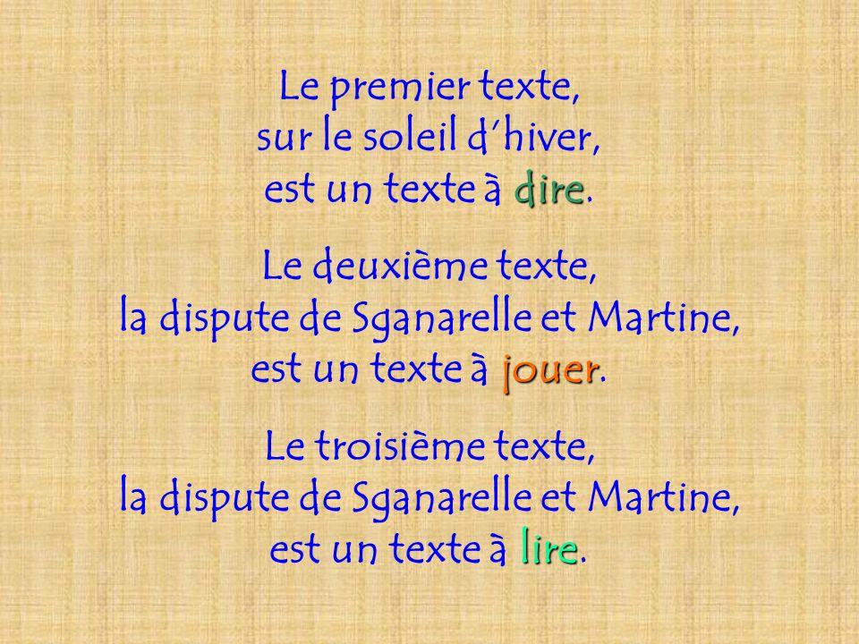 la dispute de Sganarelle et Martine,