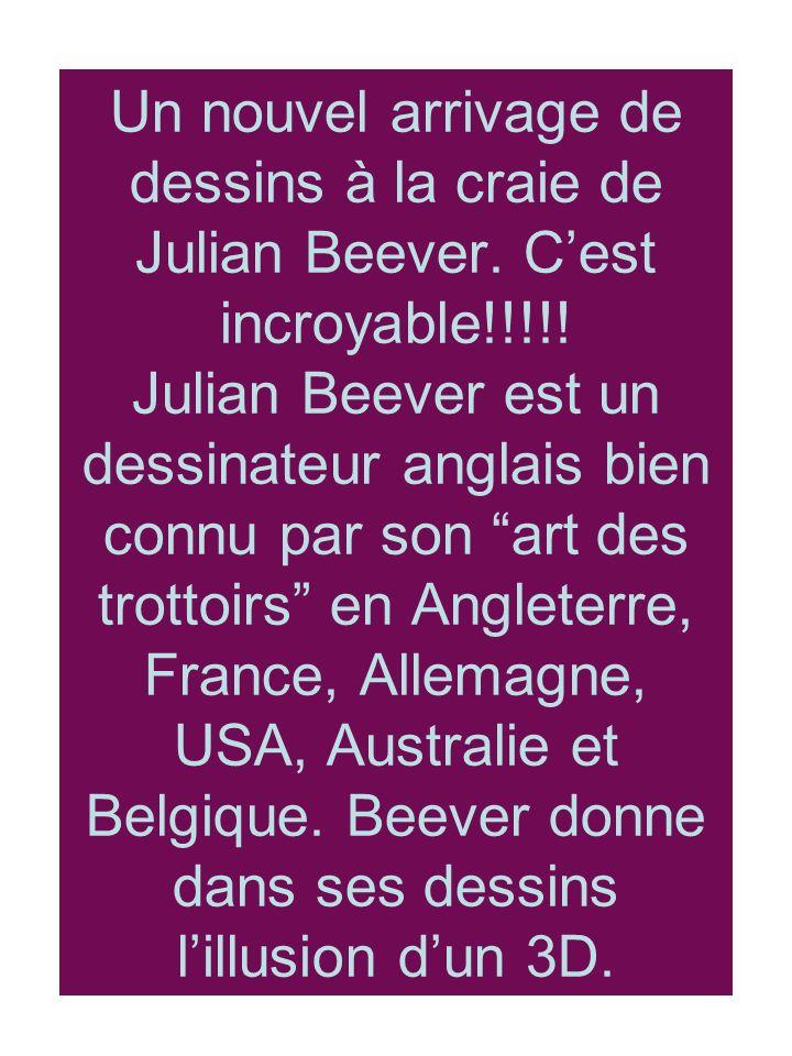 Un nouvel arrivage de dessins à la craie de Julian Beever