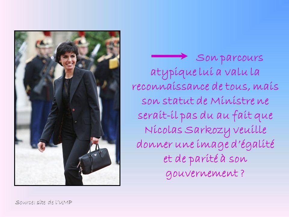 Son parcours atypique lui a valu la reconnaissance de tous, mais son statut de Ministre ne serait-il pas du au fait que Nicolas Sarkozy veuille donner une image d'égalité et de parité à son gouvernement