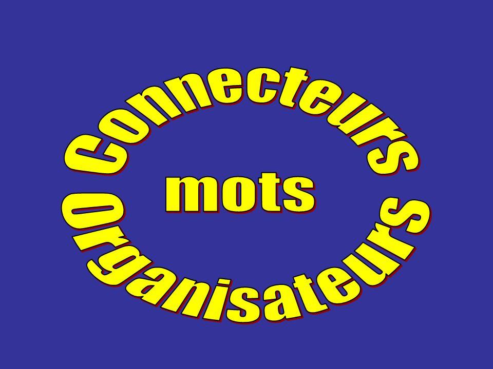 Connecteurs mots Organisateurs