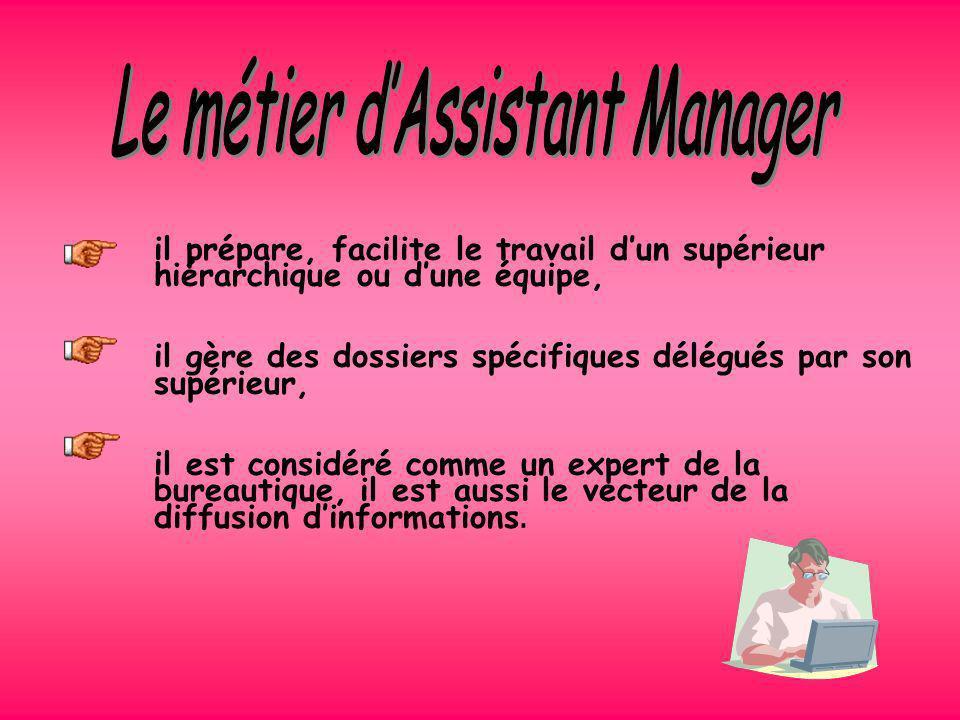 Le métier d'Assistant Manager