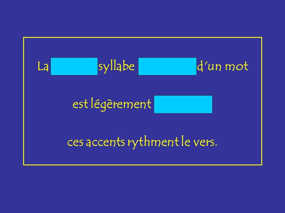 La dernière syllabe prononcée d un mot