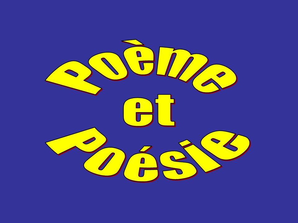 Poème et Poésie