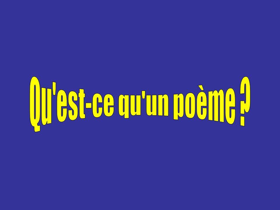 Qu est-ce qu un poème