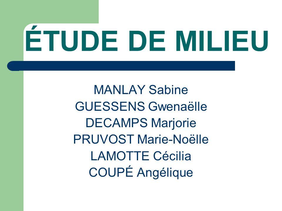 ÉTUDE DE MILIEU MANLAY Sabine GUESSENS Gwenaëlle DECAMPS Marjorie