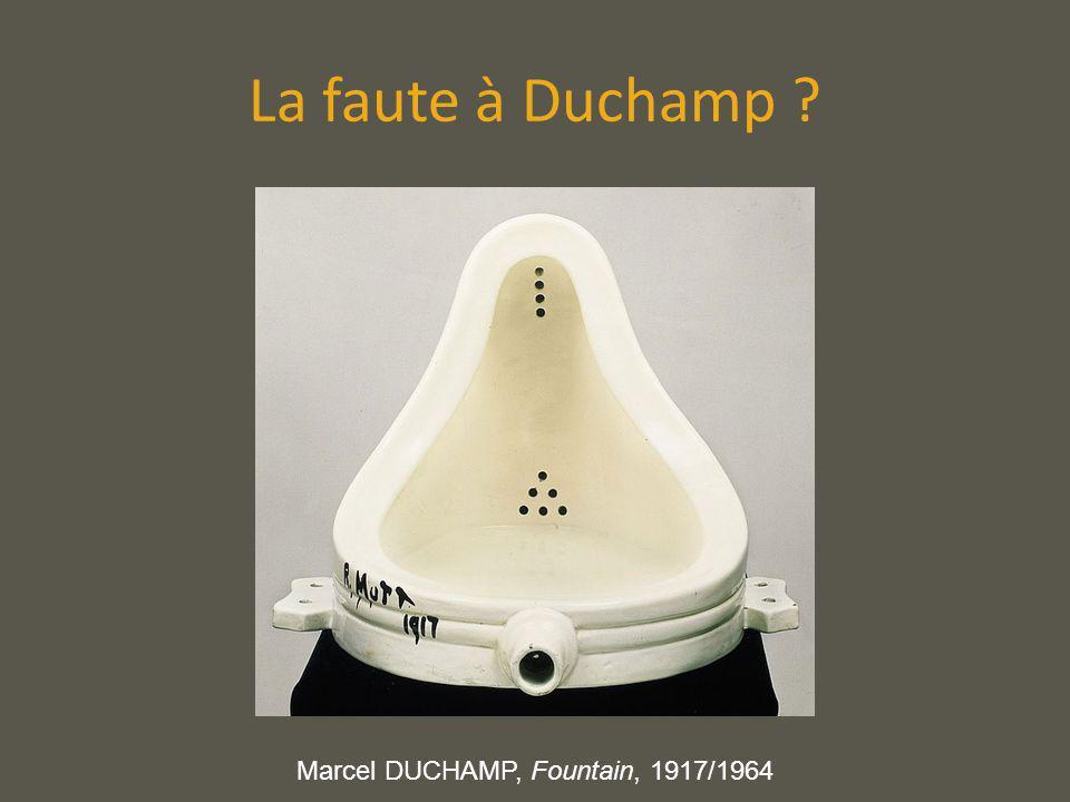 La faute à Duchamp Marcel DUCHAMP, Fountain, 1917/1964