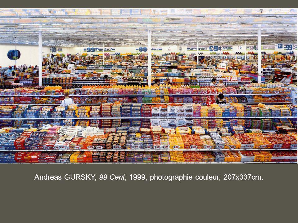 Andreas GURSKY, 99 Cent, 1999, photographie couleur, 207x337cm.