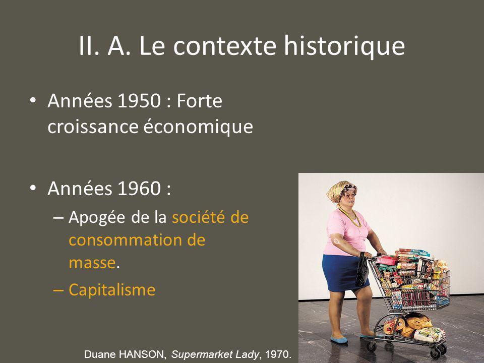 II. A. Le contexte historique