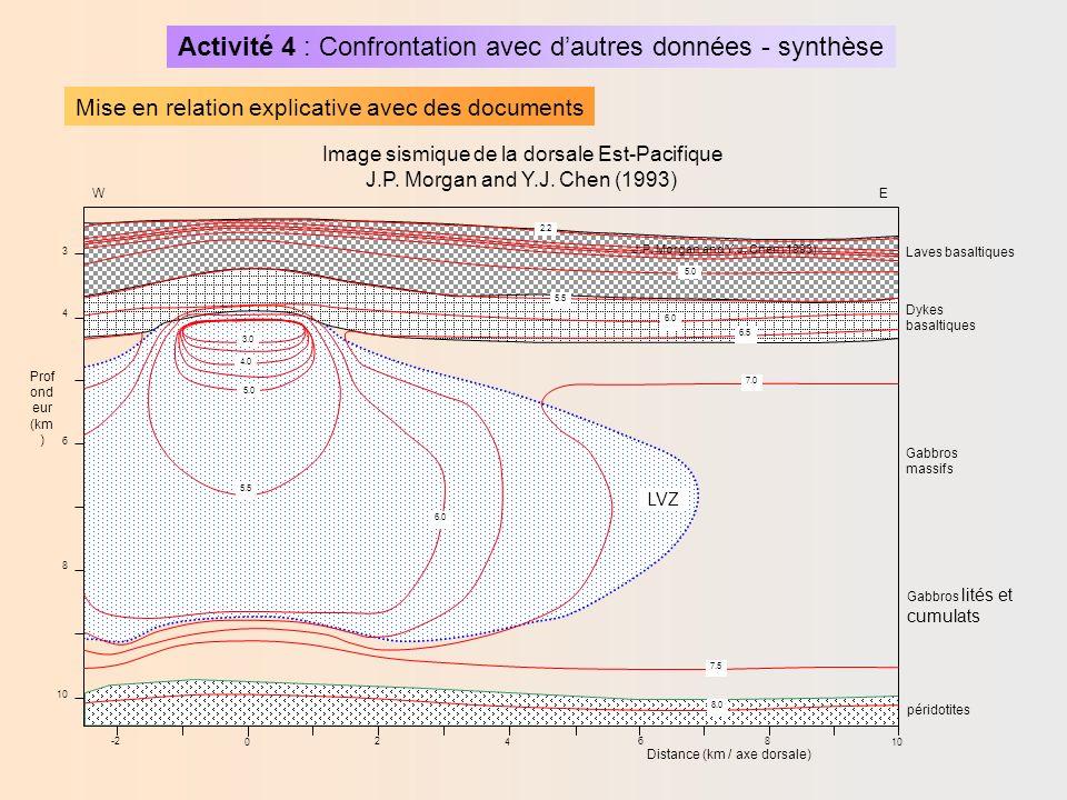 Image sismique de la dorsale Est-Pacifique