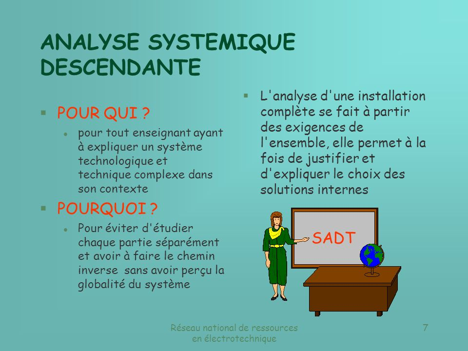 ANALYSE SYSTEMIQUE DESCENDANTE