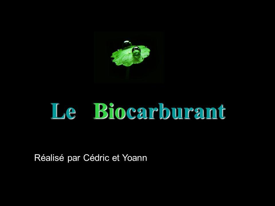 Le Biocarburant Réalisé par Cédric et Yoann