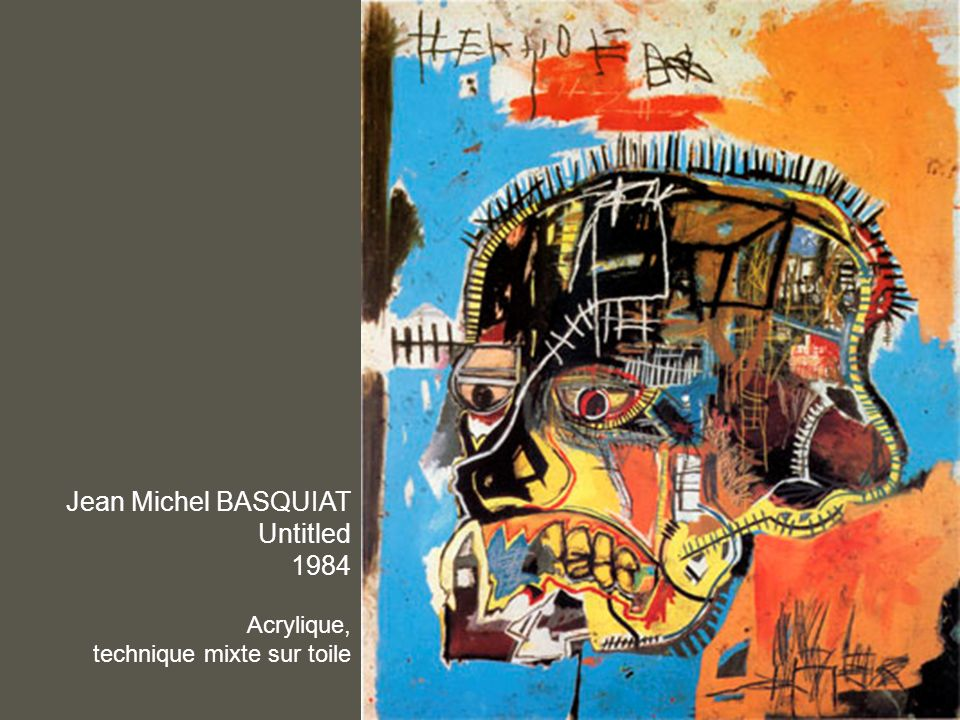 Jean Michel BASQUIAT Untitled 1984 Acrylique,