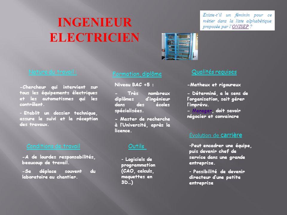 INGENIEUR ELECTRICIEN