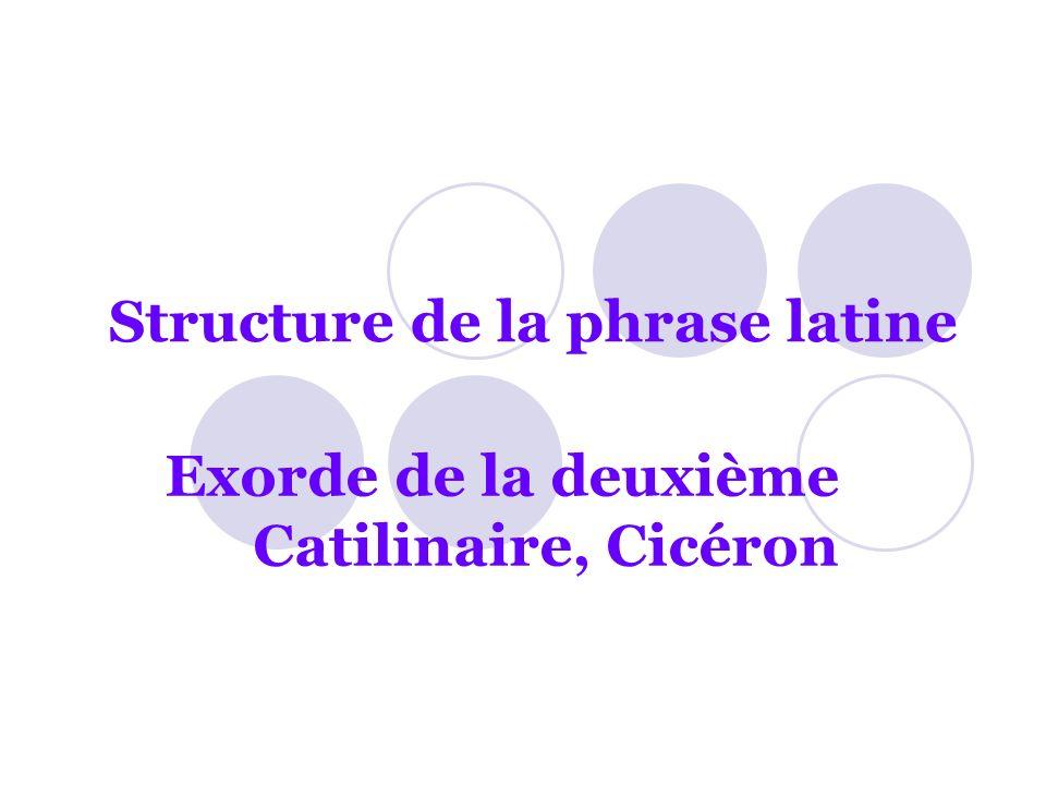 Structure de la phrase latine