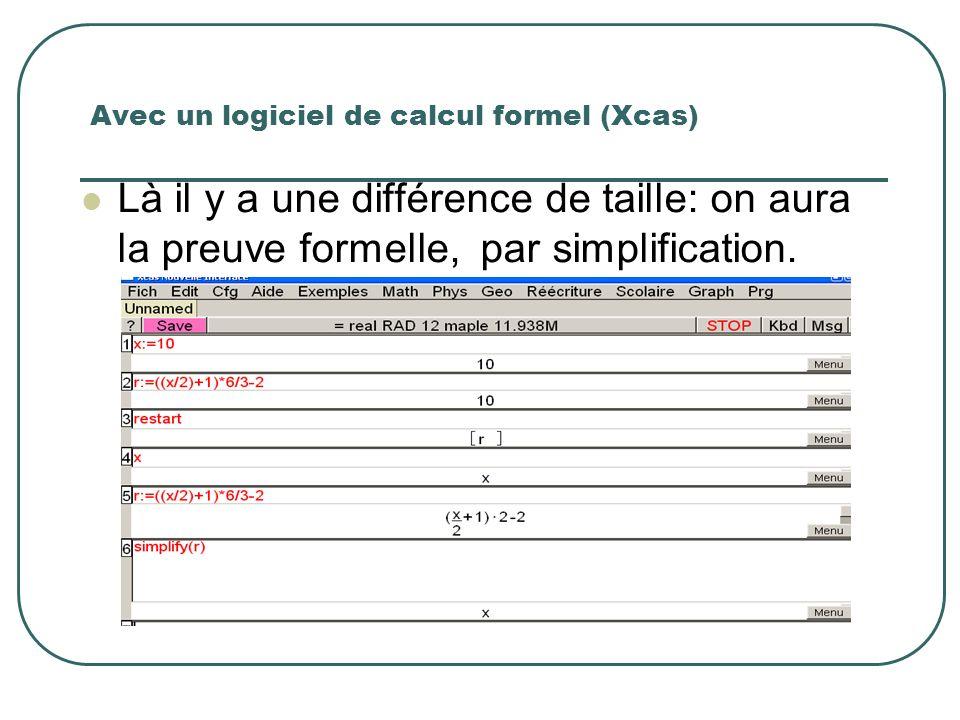 Avec un logiciel de calcul formel (Xcas)