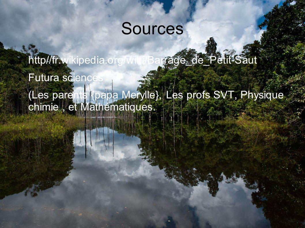 Sources http//fr.wikipedia.org/wiki/Barrage_de_Petit-Saut