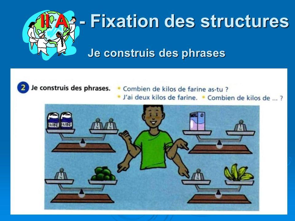 II A- - Fixation des structures